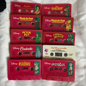 Set of 10 Disney Cassette Tapes